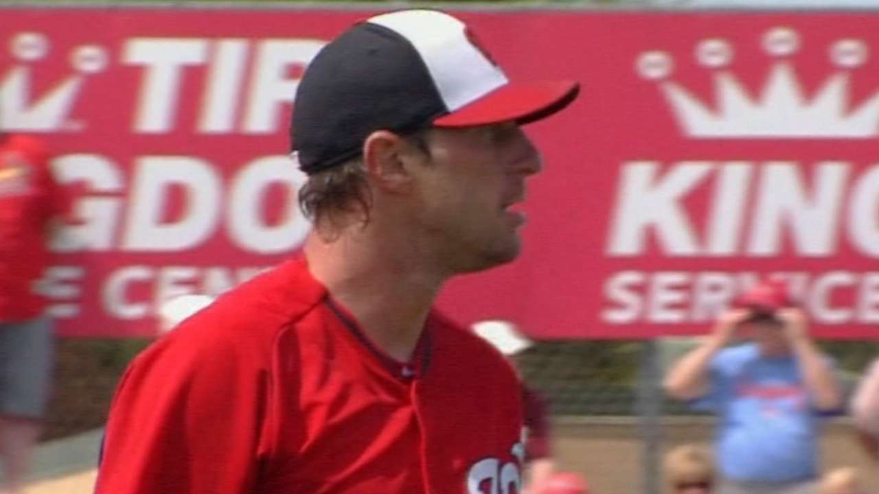 Scherzer piles up K's before Nationals edged late