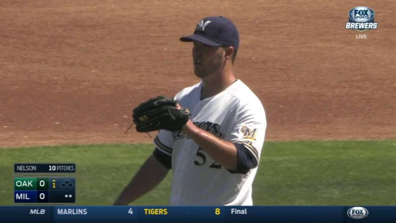 Brewers committed to Nelson in rotation