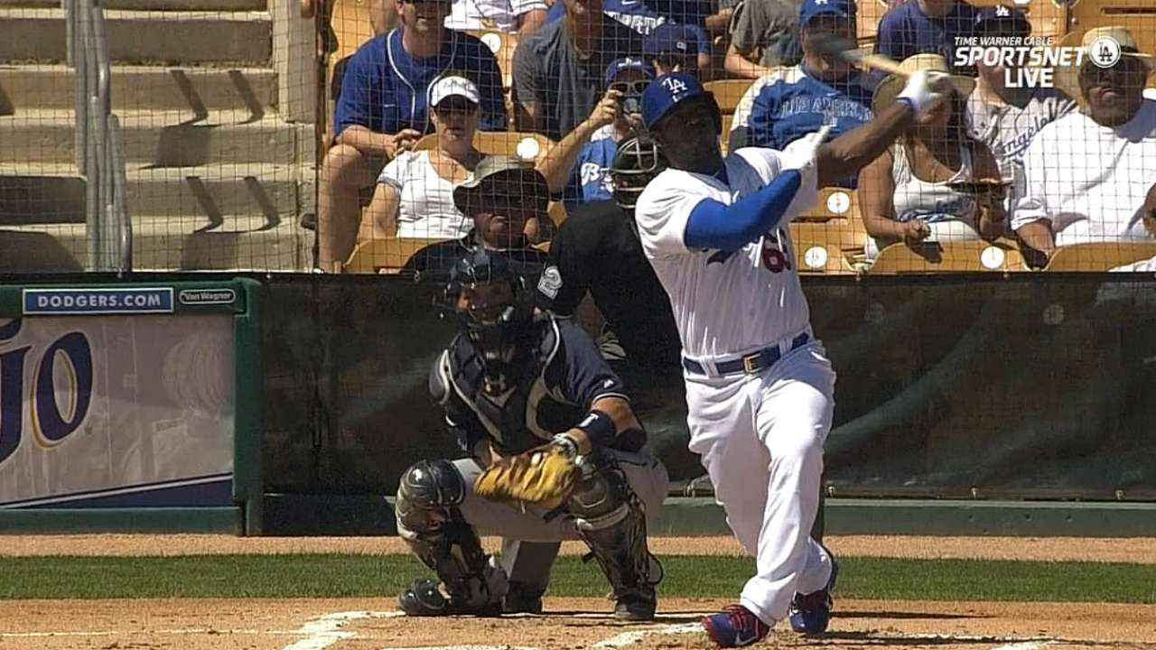 Growing up: Puig now letting play do talking