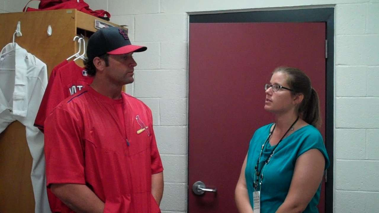 Several players catching Matheny's eye at camp