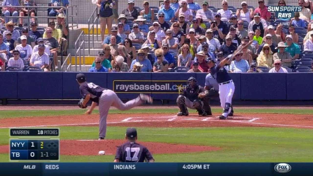 Longoria, Jennings go deep in win over Yankees