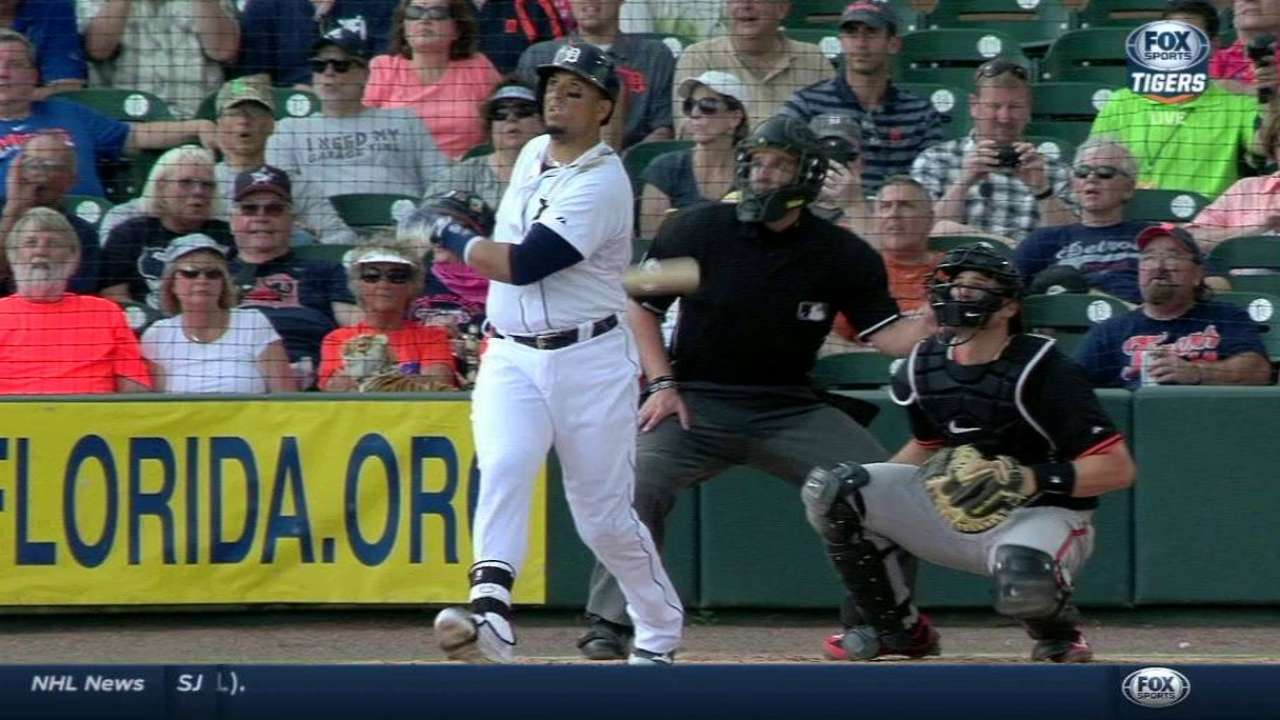 Miggy, V-Mart hit first spring homers as Tigers beat O's