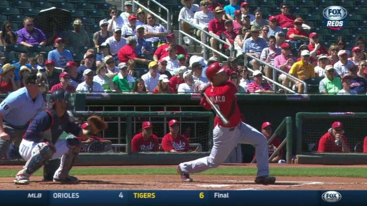 Mesoraco, Frazier flash power as Reds crush Salazar, Indians