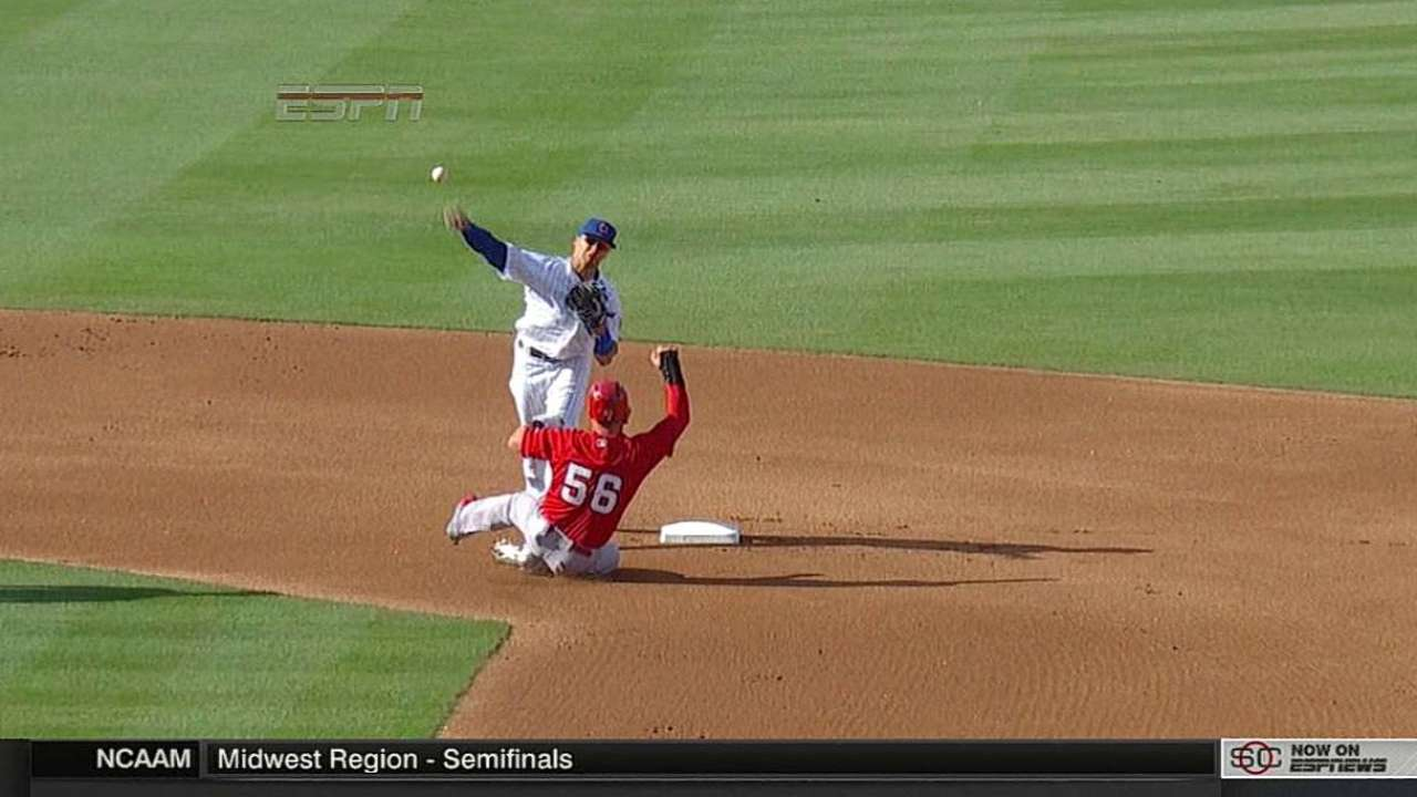Russell, Baez turn double play