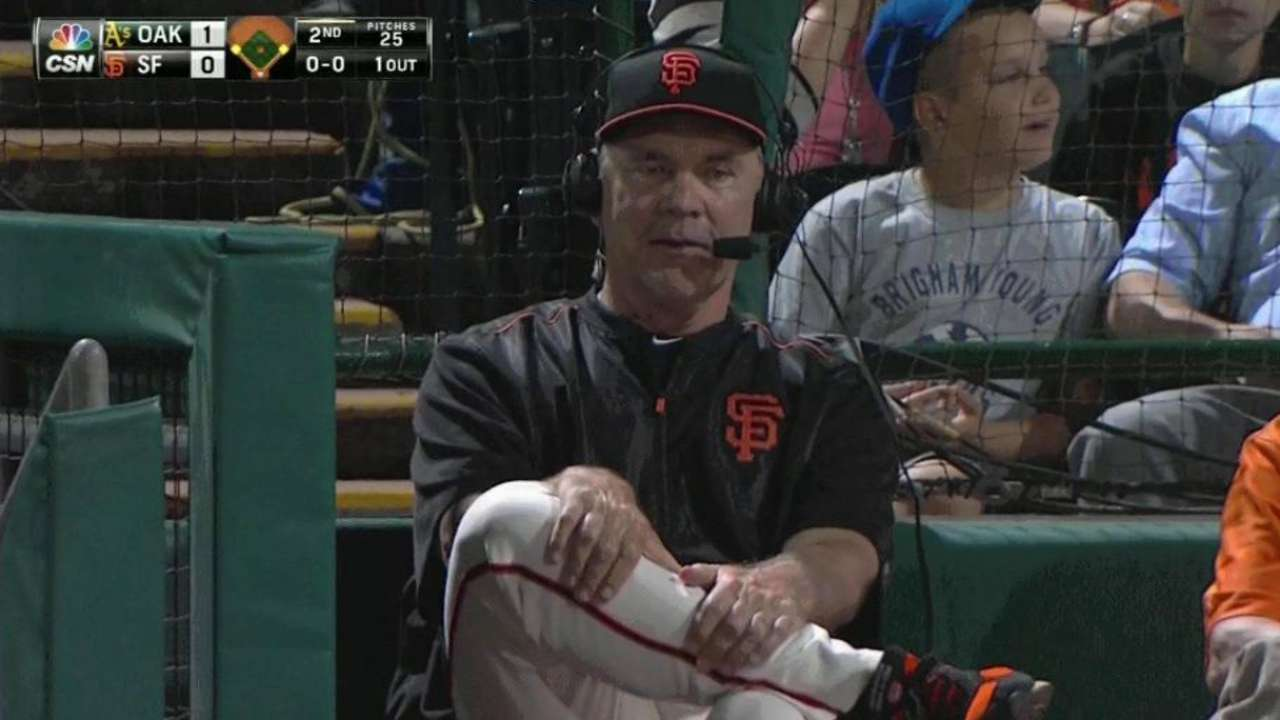 Bochy concerned with defense, situational hitting