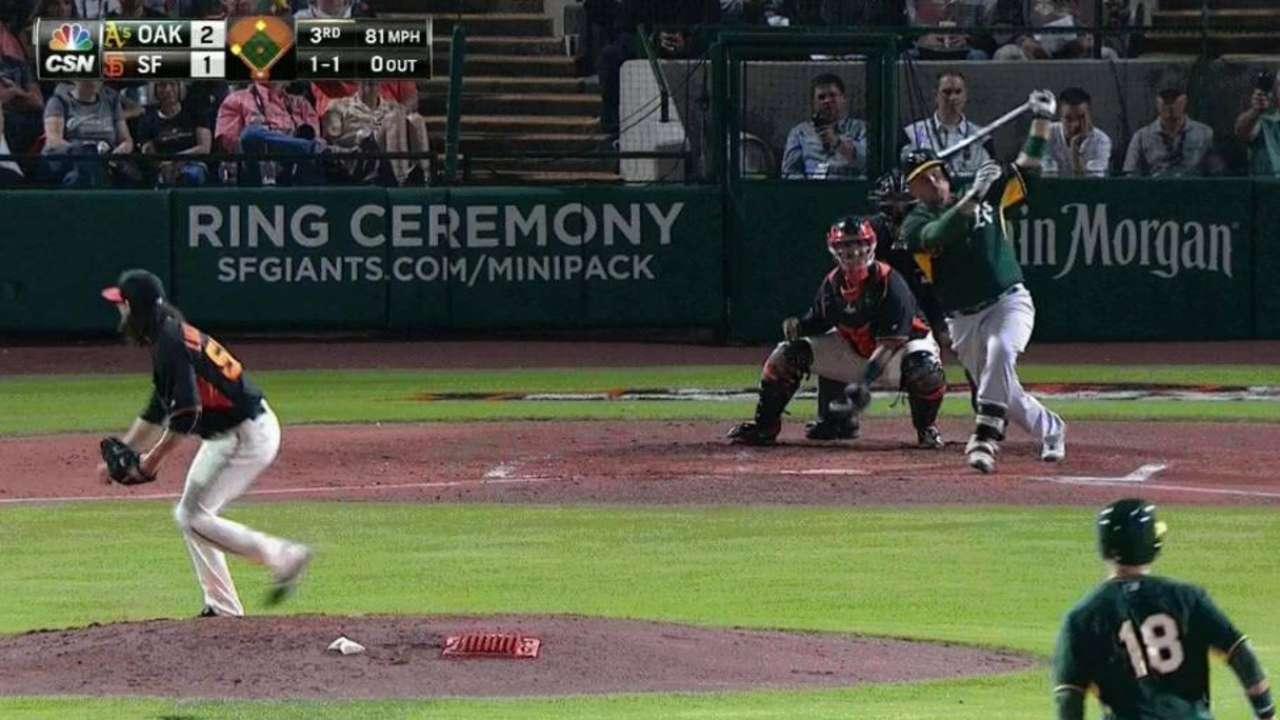 Butler's two-run double