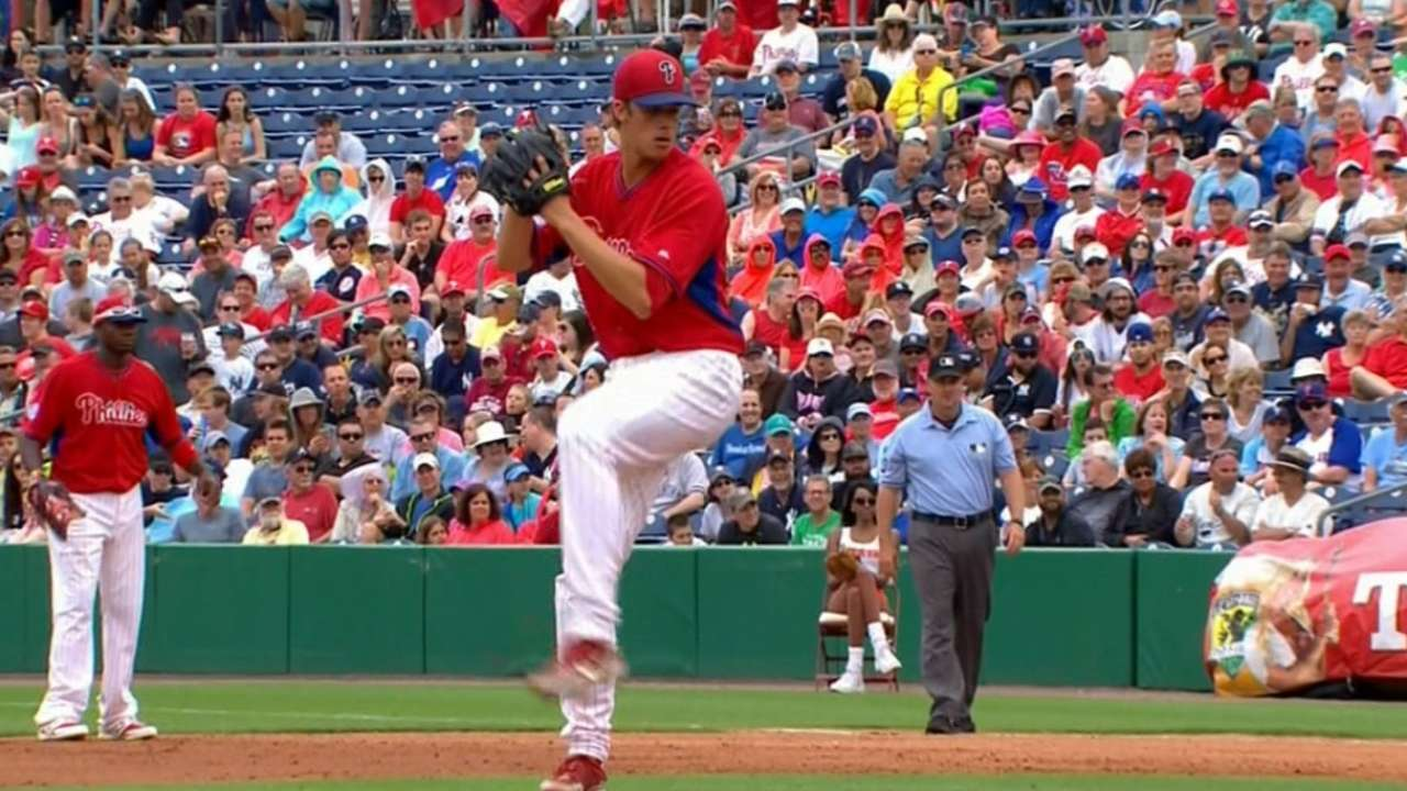 Nola goes three strong in debut before 'pen falters