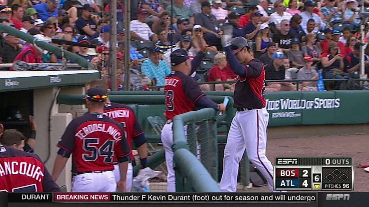 Braves bench rounding into form