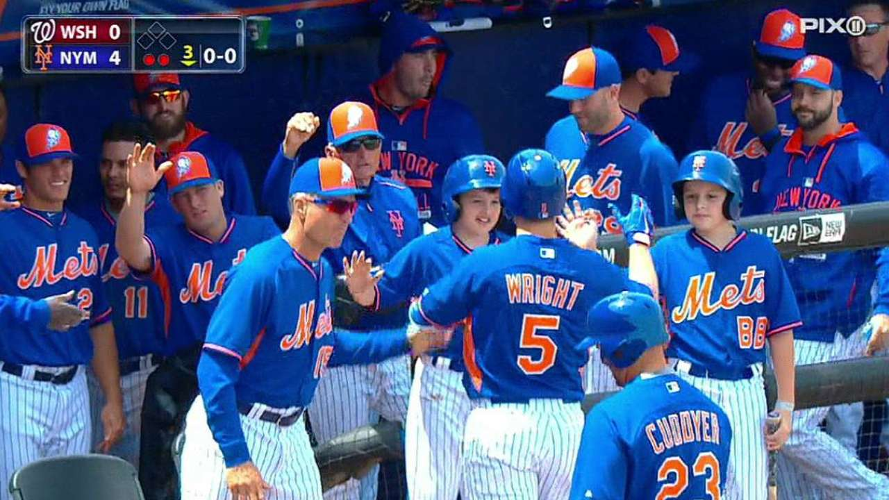 Wright's solo homer