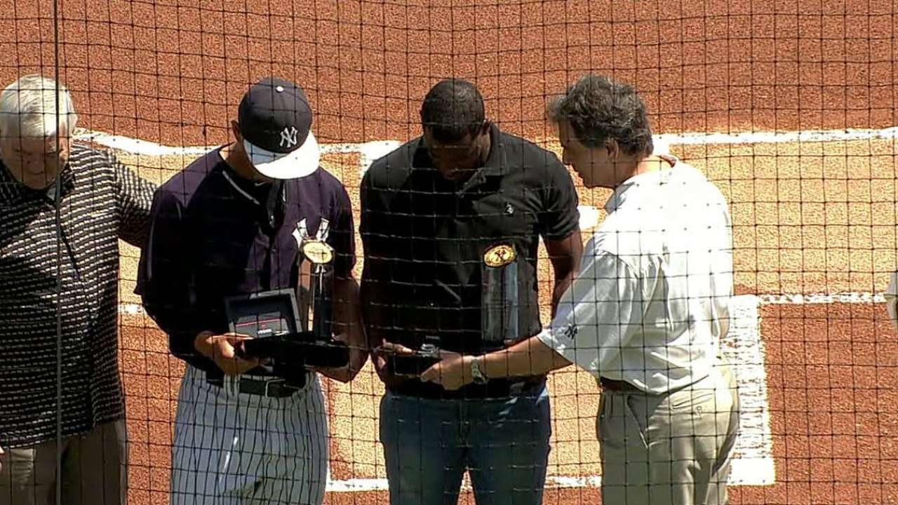 Yankees name award winners