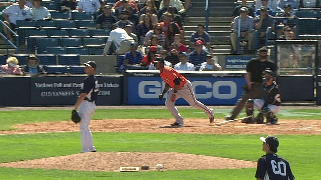 Paredes' solo home run