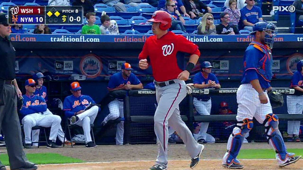 Robinson makes Nats roster; Carp, Hill sent down