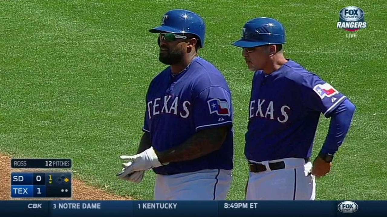Rangers relievers pitch well against Padres
