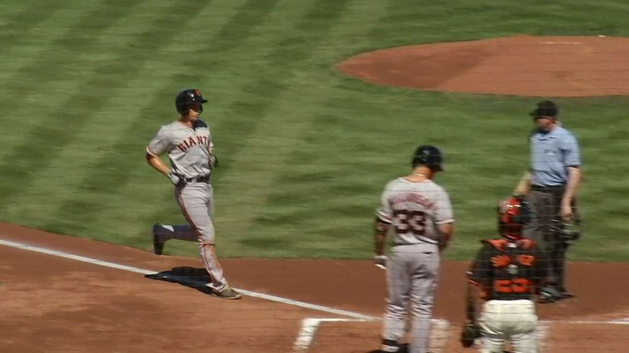 Prospect Slater goes yard in Giants' Futures Game