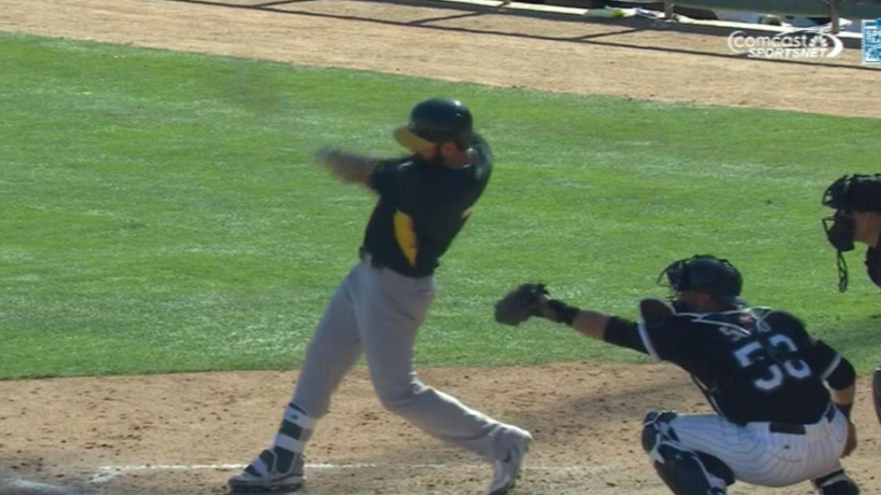 A's score six in the 8th