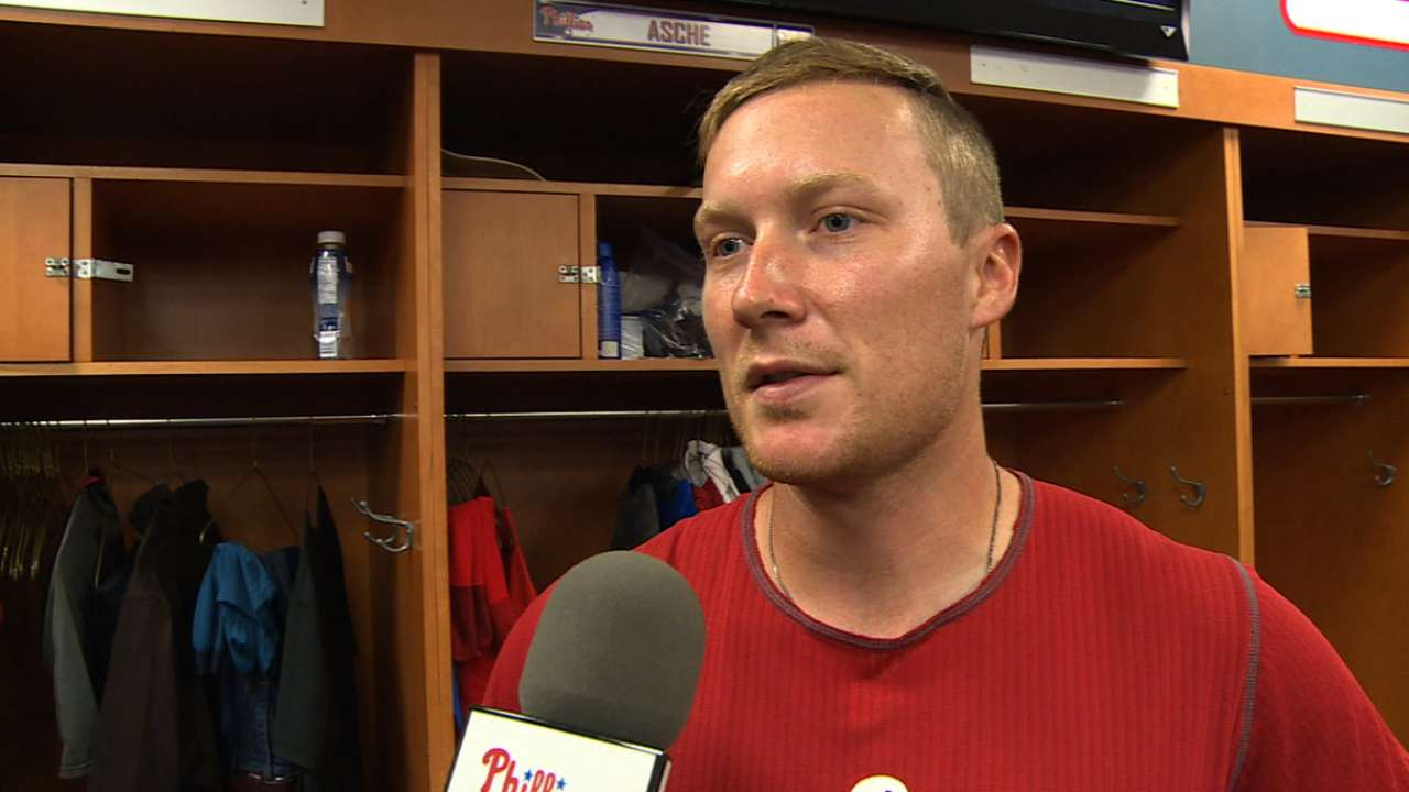 Asche close to returning with an eye on Opening Day