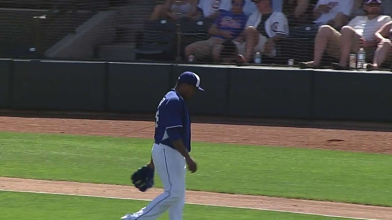 Sharp Volquez fans eight in loss to Cubs