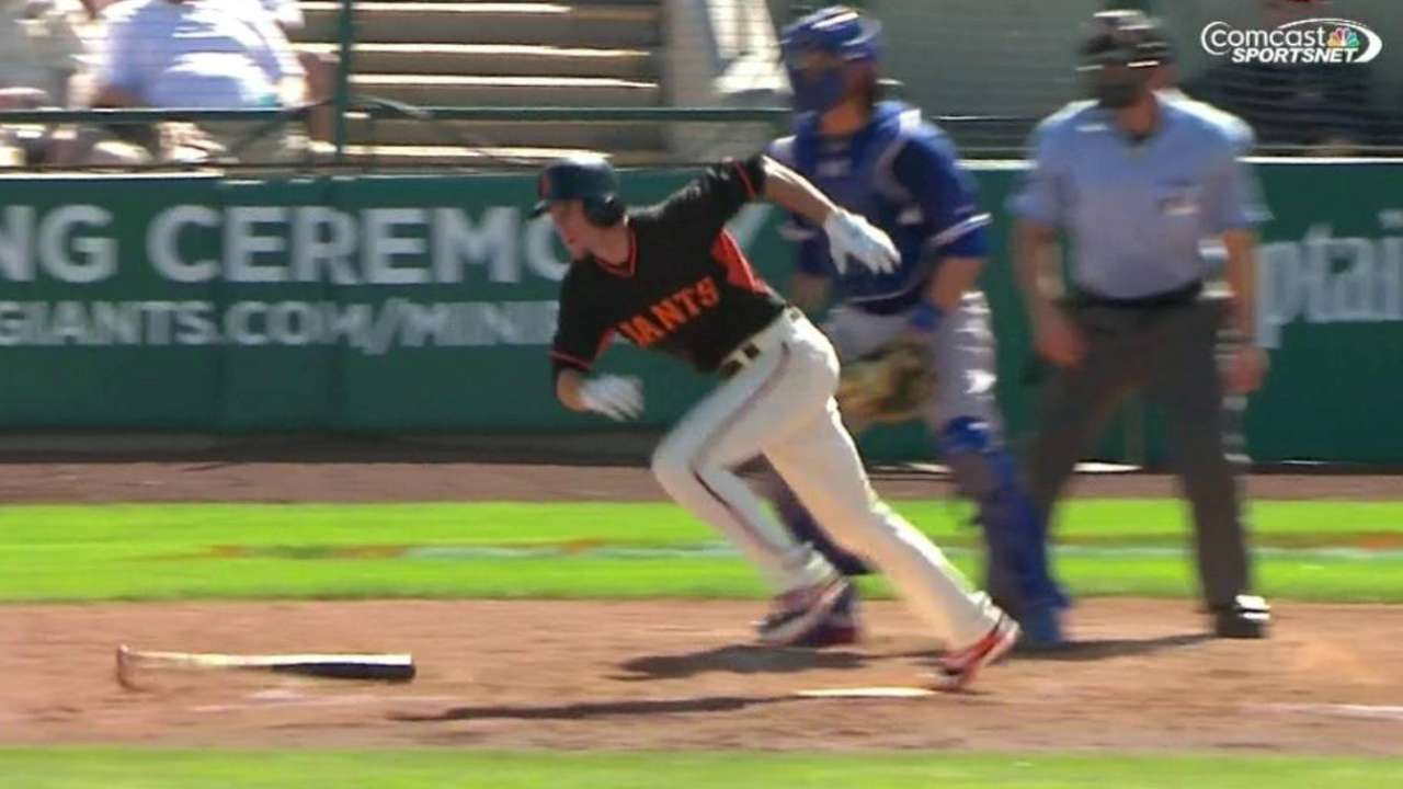 Duffy wins Giants' award for spring newcomer