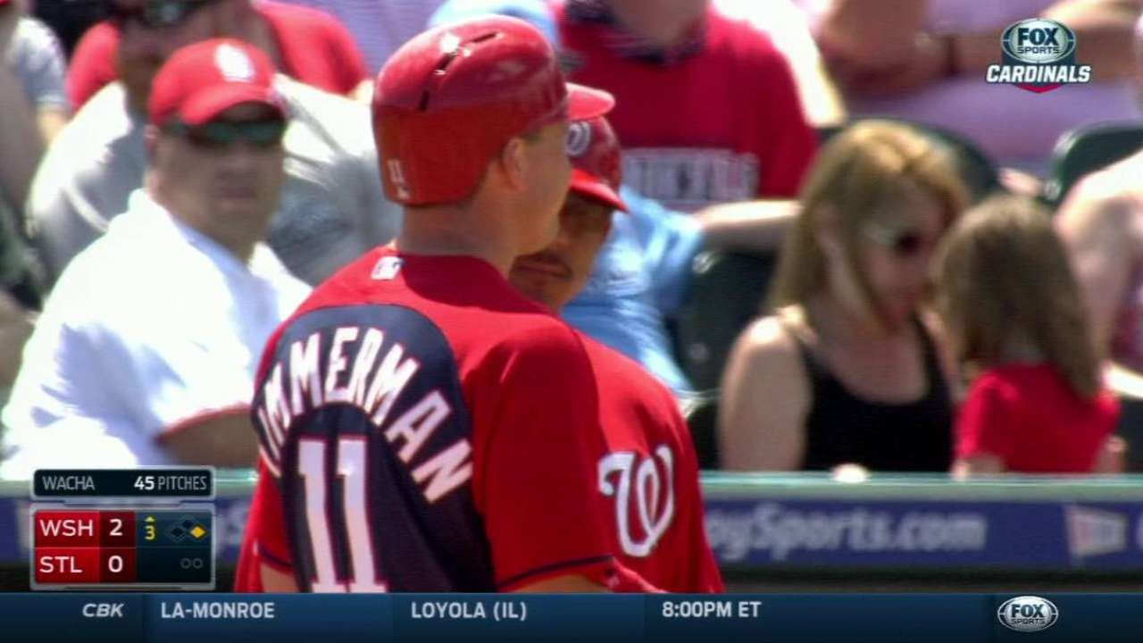 Nationals' offense shows early life in loss to Cards