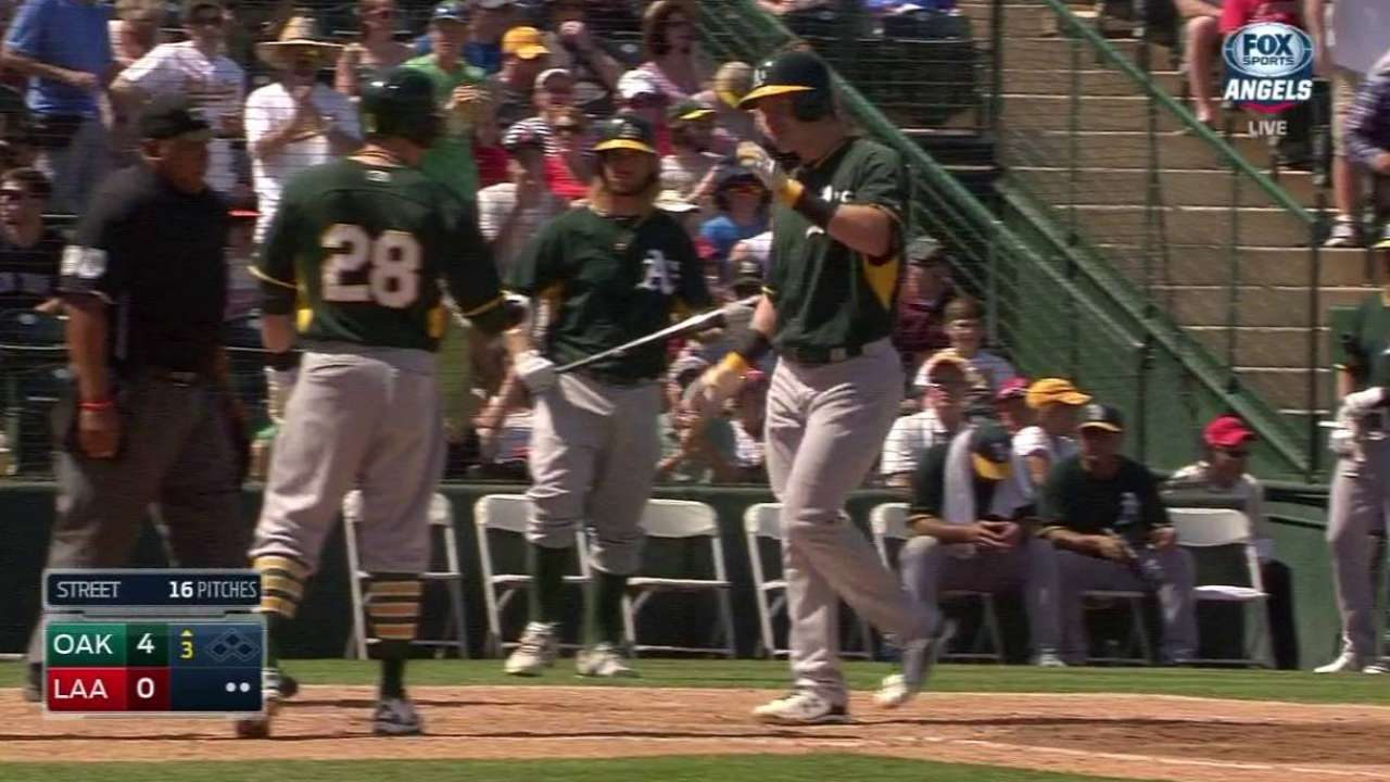 In slugfest with rival Angels, A's emerge victorious