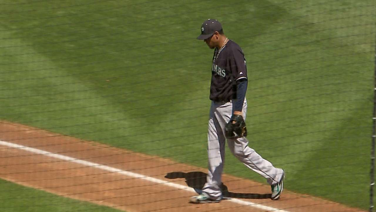 Felix labors, exits early in final spring tuneup