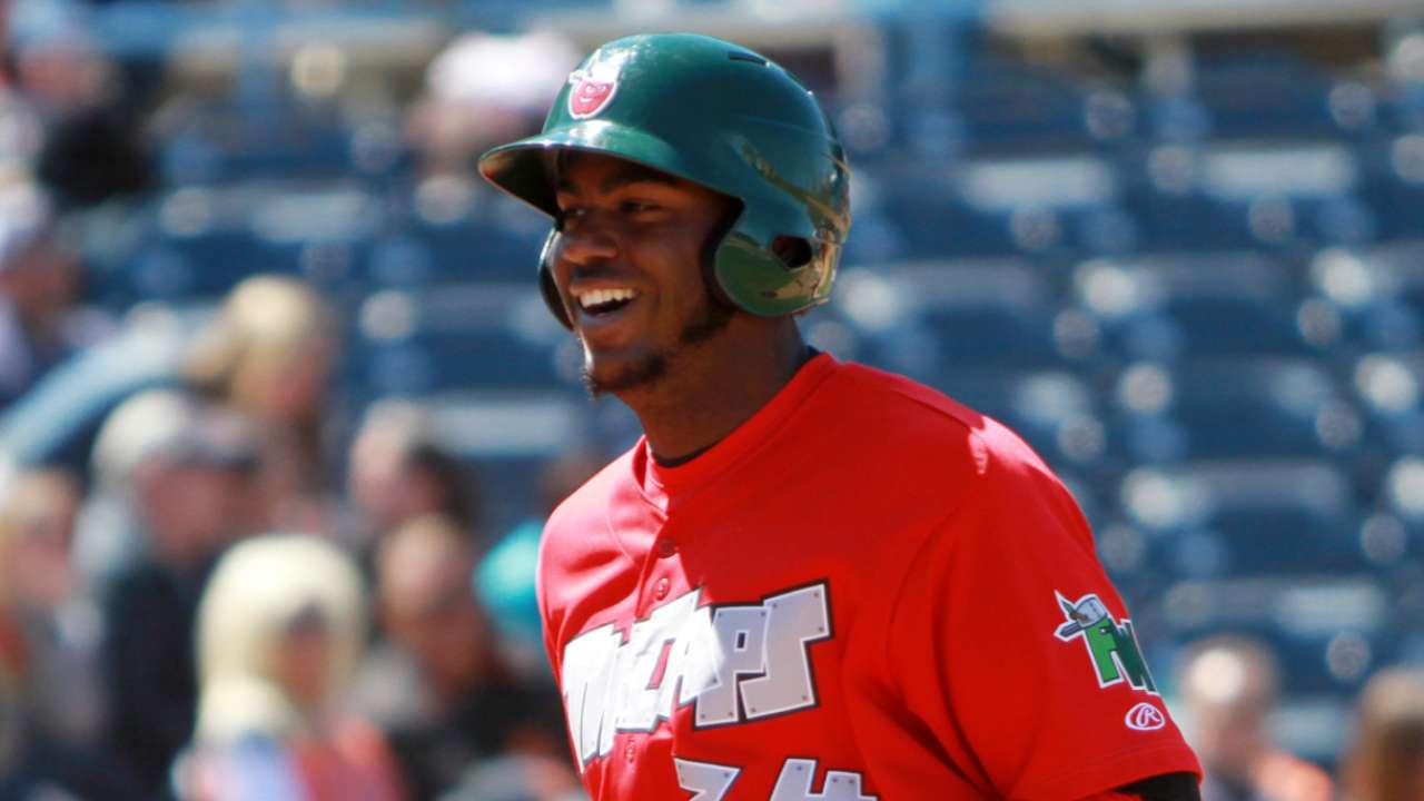 Reyes is perfect at plate with 5-for-5 day for TinCaps