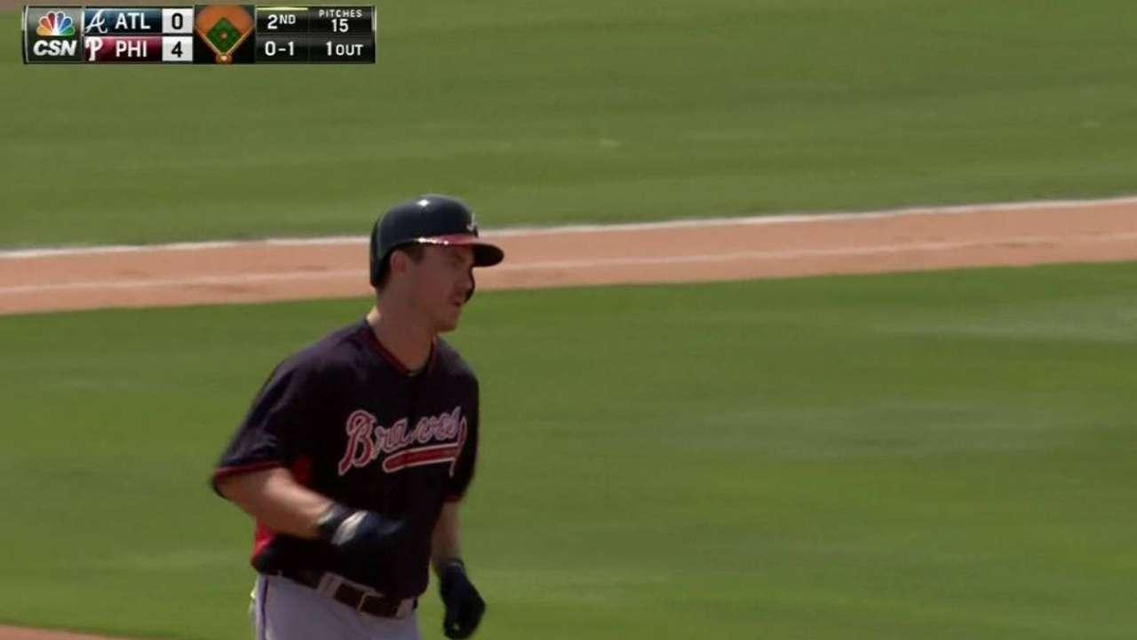 Benson seizing opportunity to claim Braves bench spot
