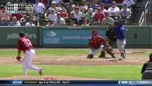 TOR@BOS: Harris lifts sac fly to plate Valencia