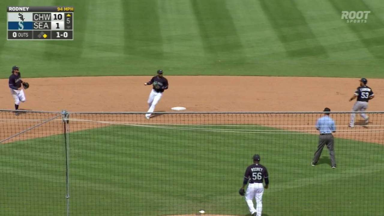 Rodney forces the double play