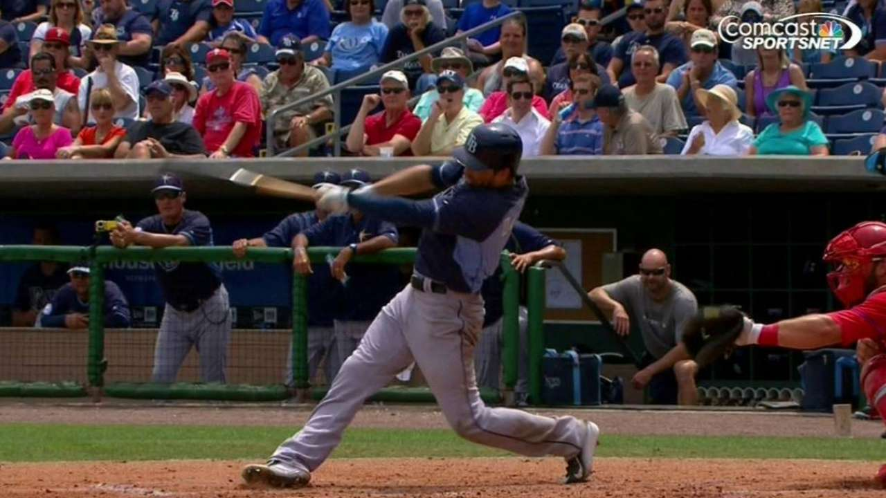 DeJesus powers Rays' offense against Phillies