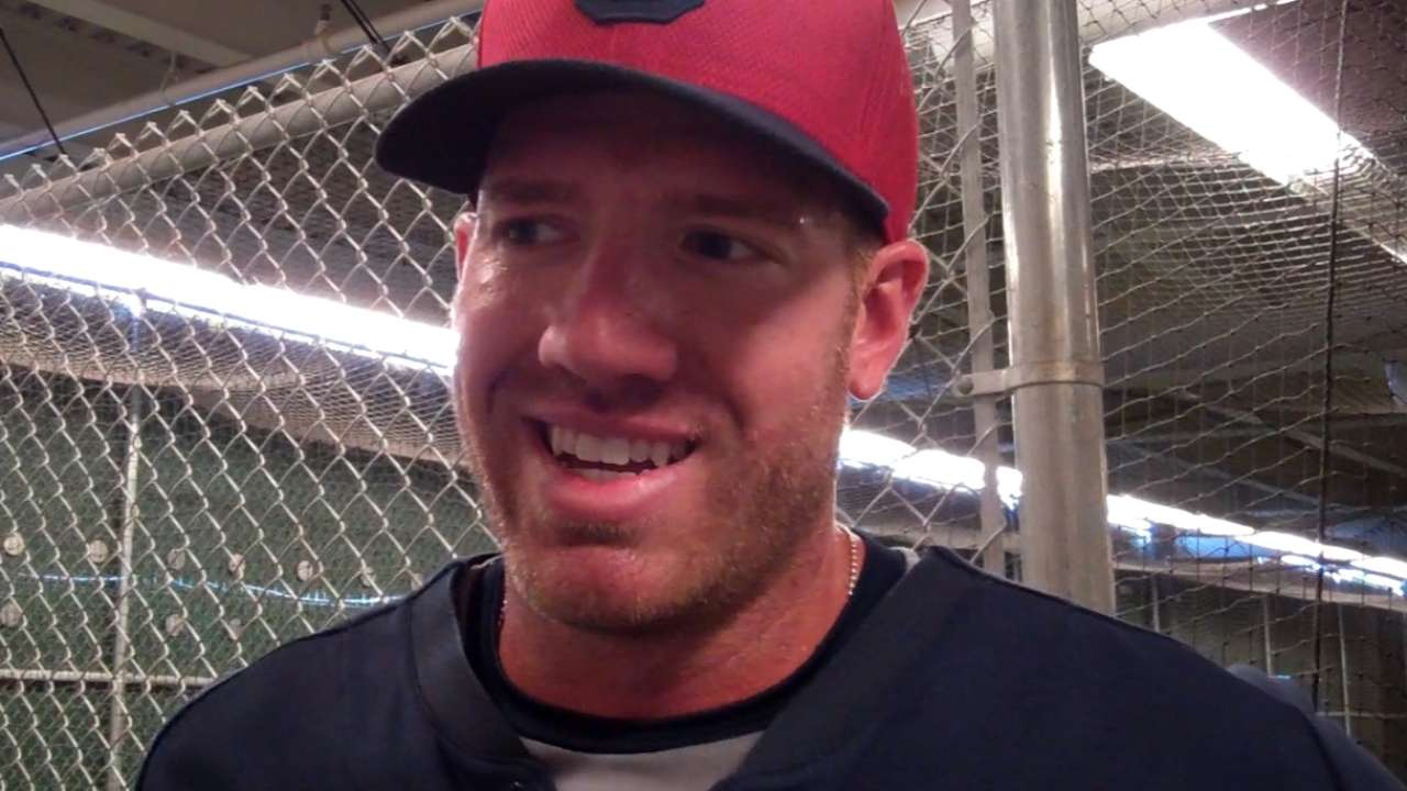 Brantley, McAllister lead Indians to win over Reds