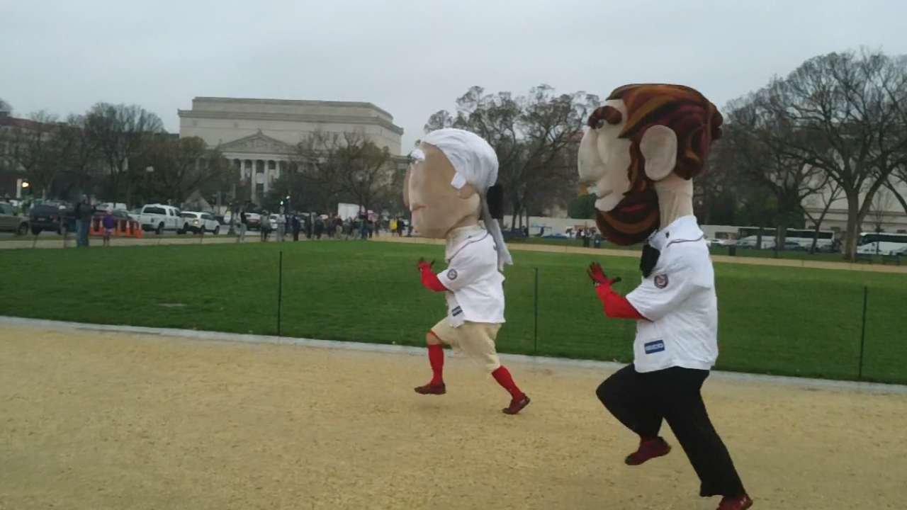 Home turf: Presidents Race takes to National Mall