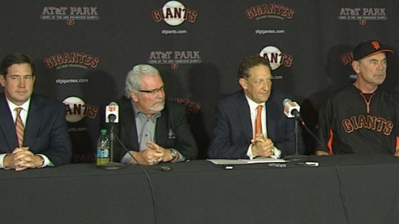 Bochy, Sabean extend contracts; GM moves up