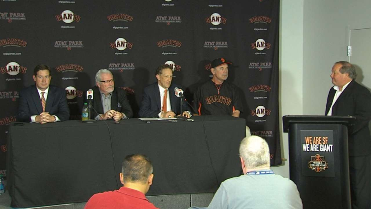 Bochy, Sabean discuss extensions