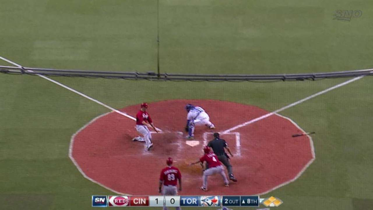 Schumaker provides only offense in baseball's return to Montreal