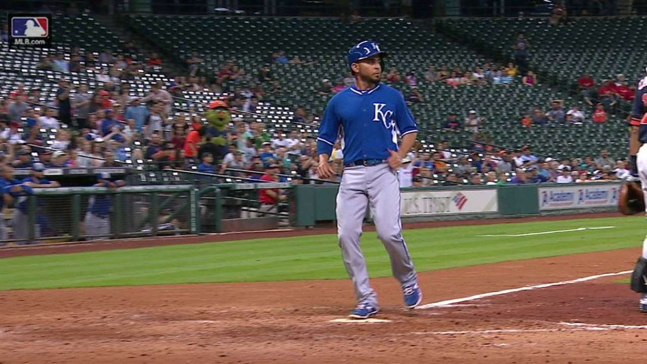 Royals score on double play