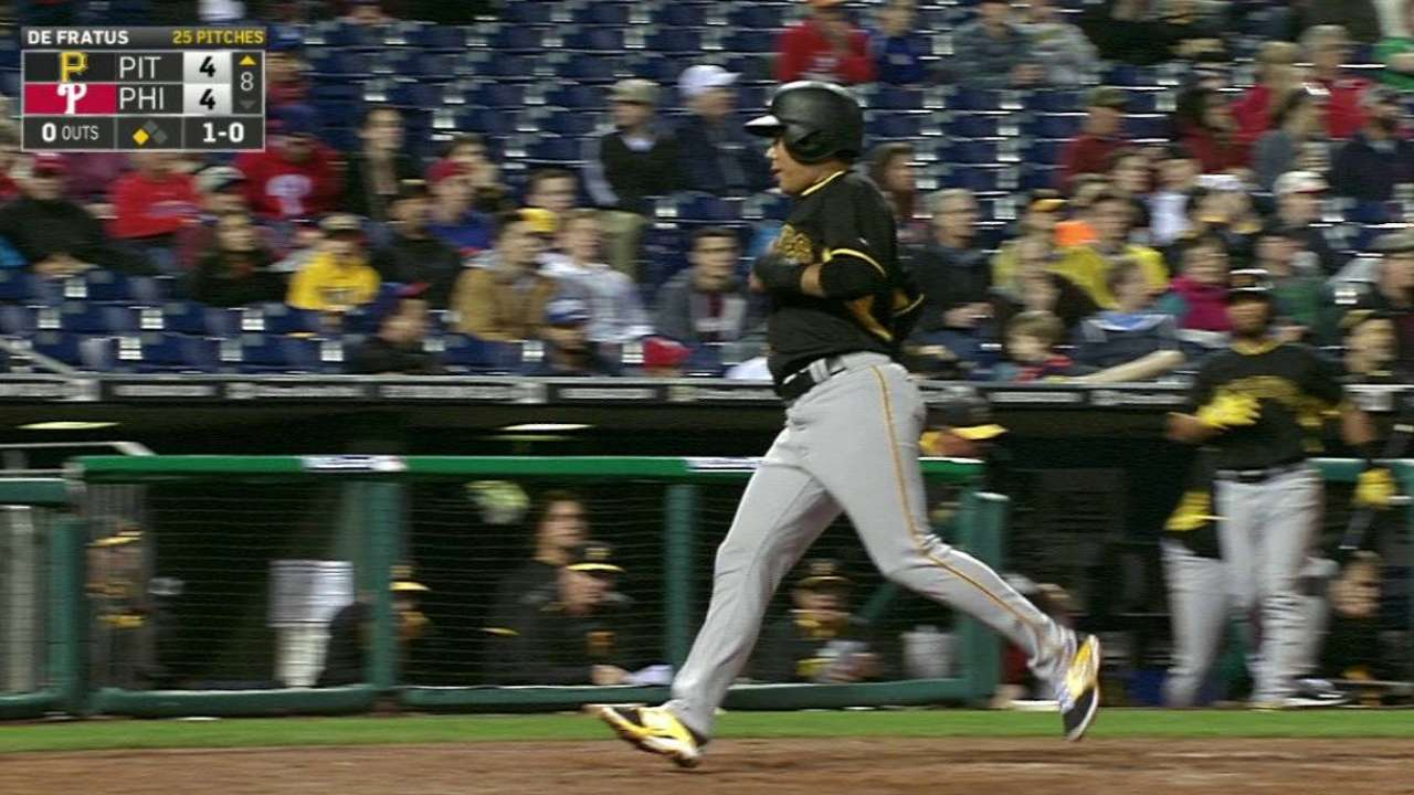 Pirates fall to Phillies on walk-off