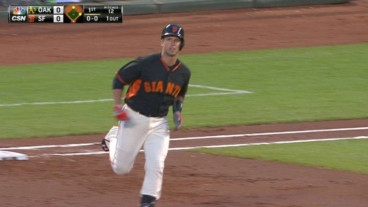 Posey homers behind Cain's solid spring finale