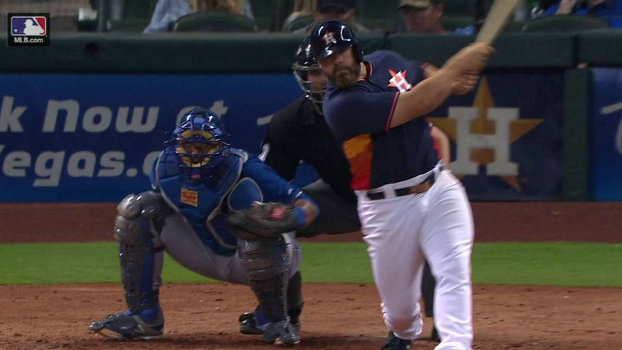 Astros not concerned with Gattis' slow start