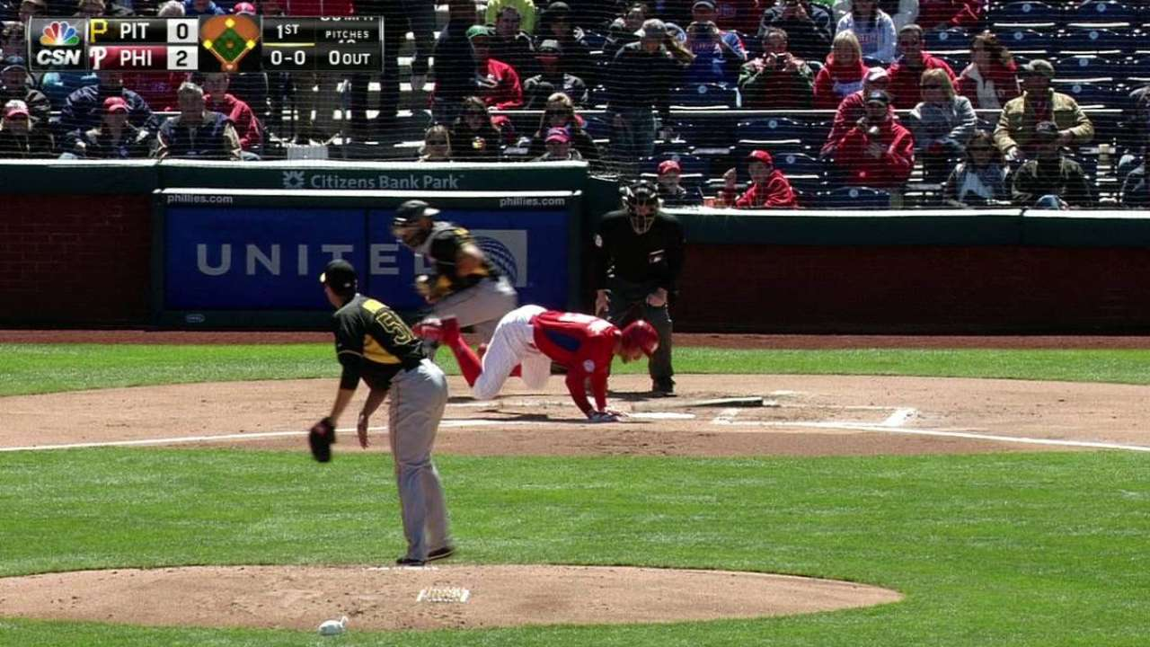 Sizemore's hit-by-pitch RBI