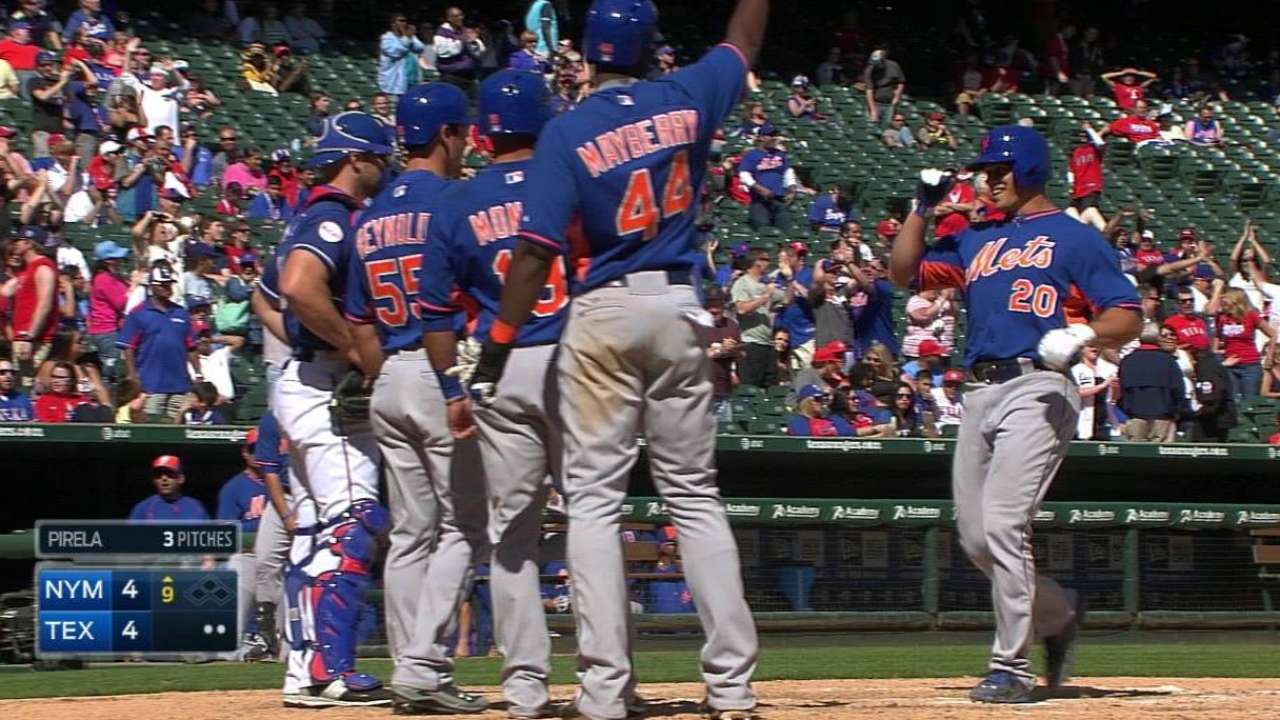 Recker's slam leads to Mets-Rangers tie in spring finale