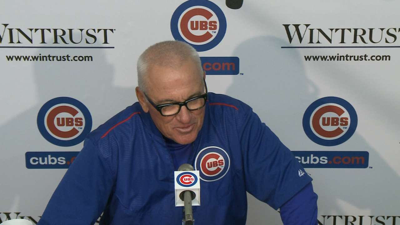 Maddon getting up to speed on NL Central
