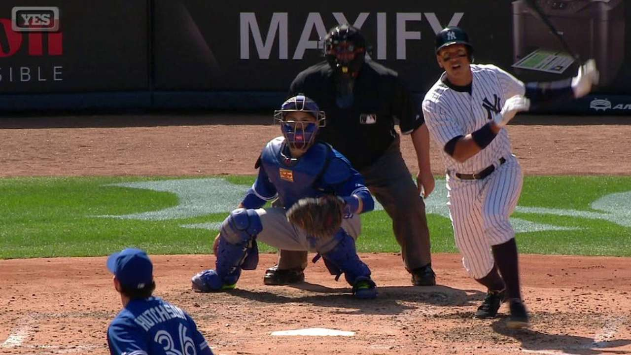 A-Rod collects first hit of 2015