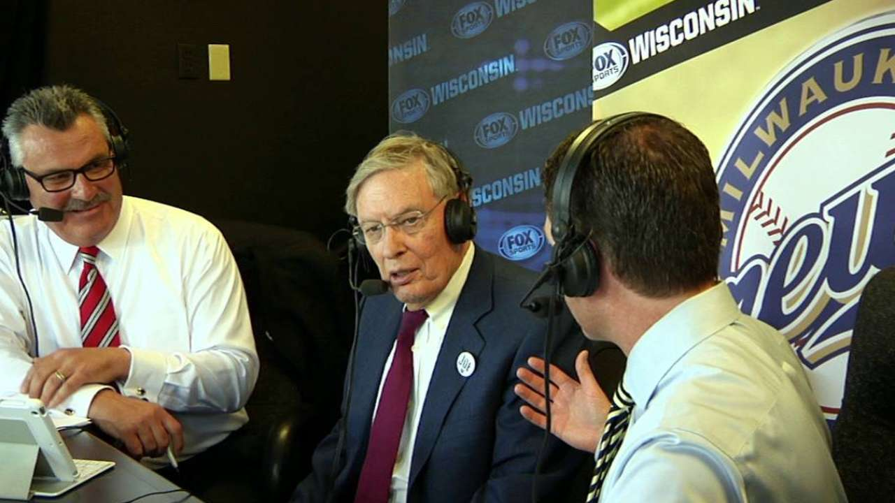 Selig on honors from Brewers
