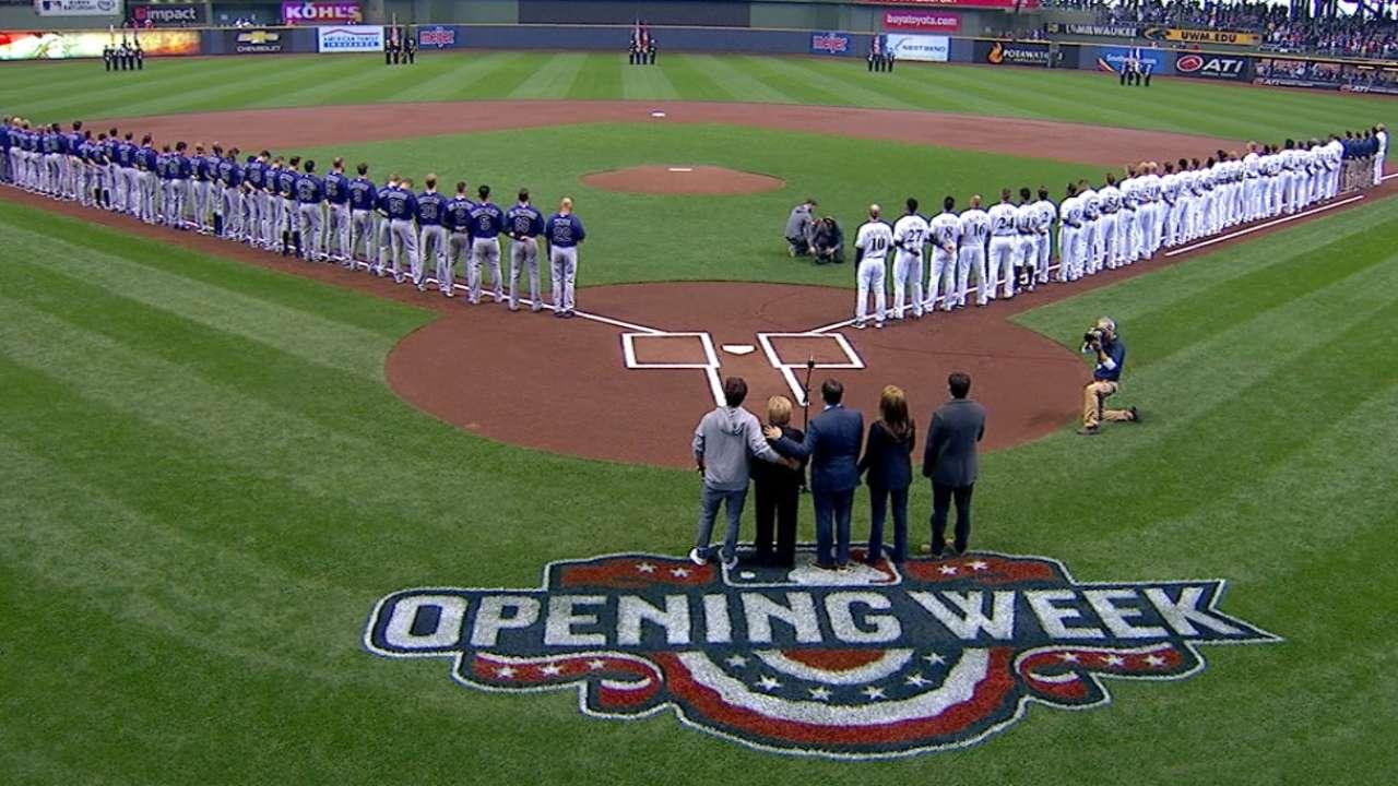 Brewers pay tribute to Joe Attanasio with anthem