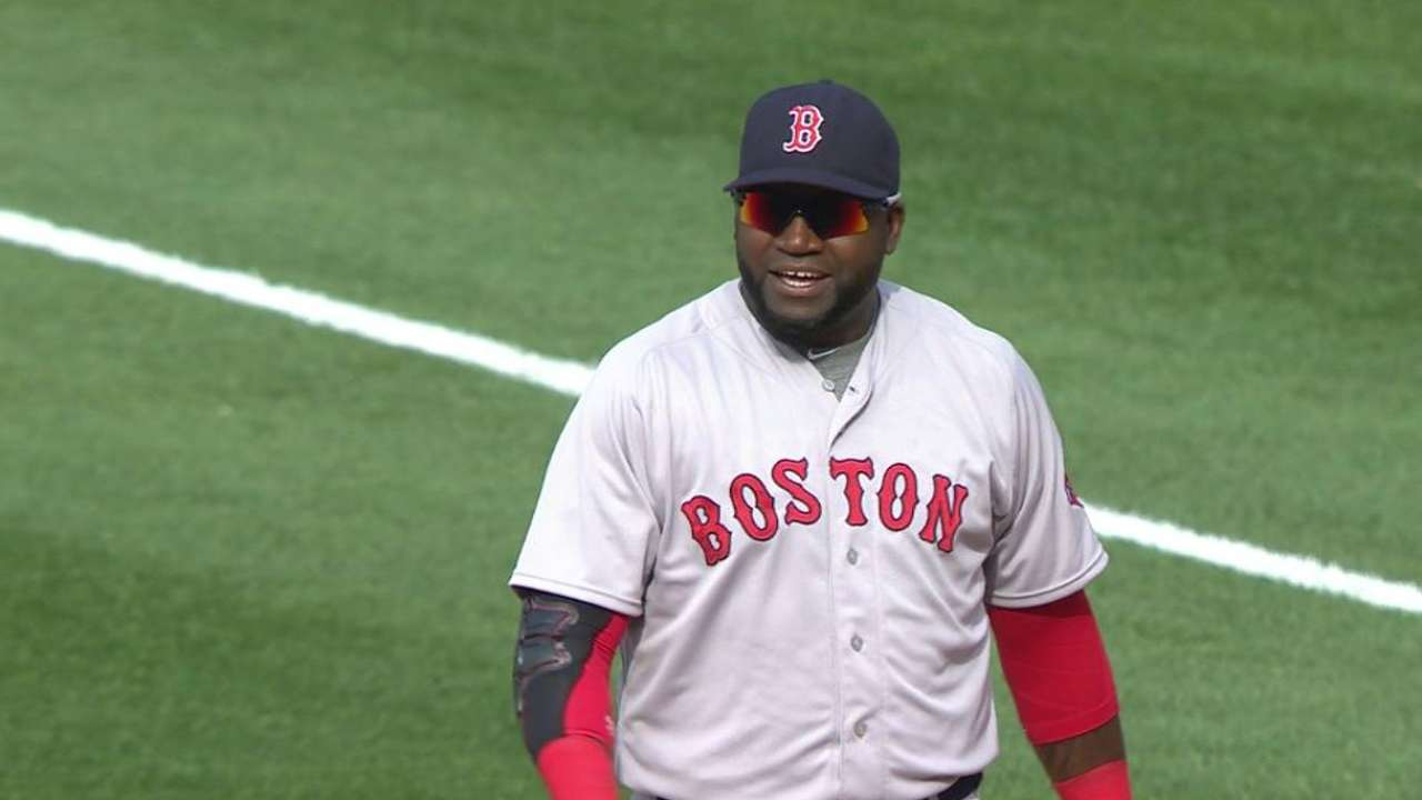 Big Papi slated to play first base vs. Dodgers