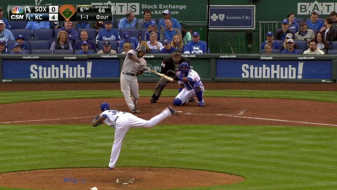 M. Johnson's first MLB hit