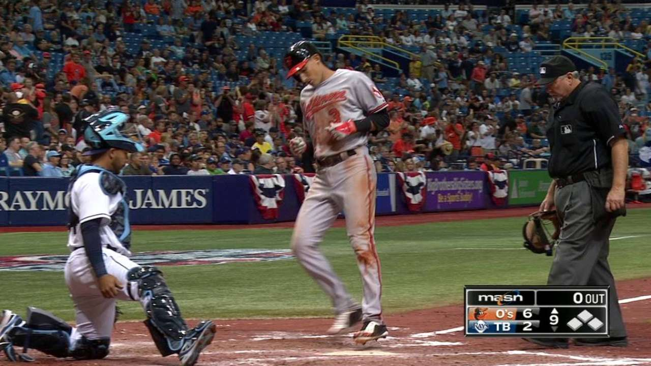 Flaherty's long home run