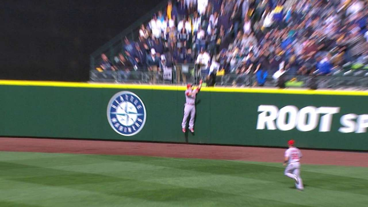 Trout's great catch