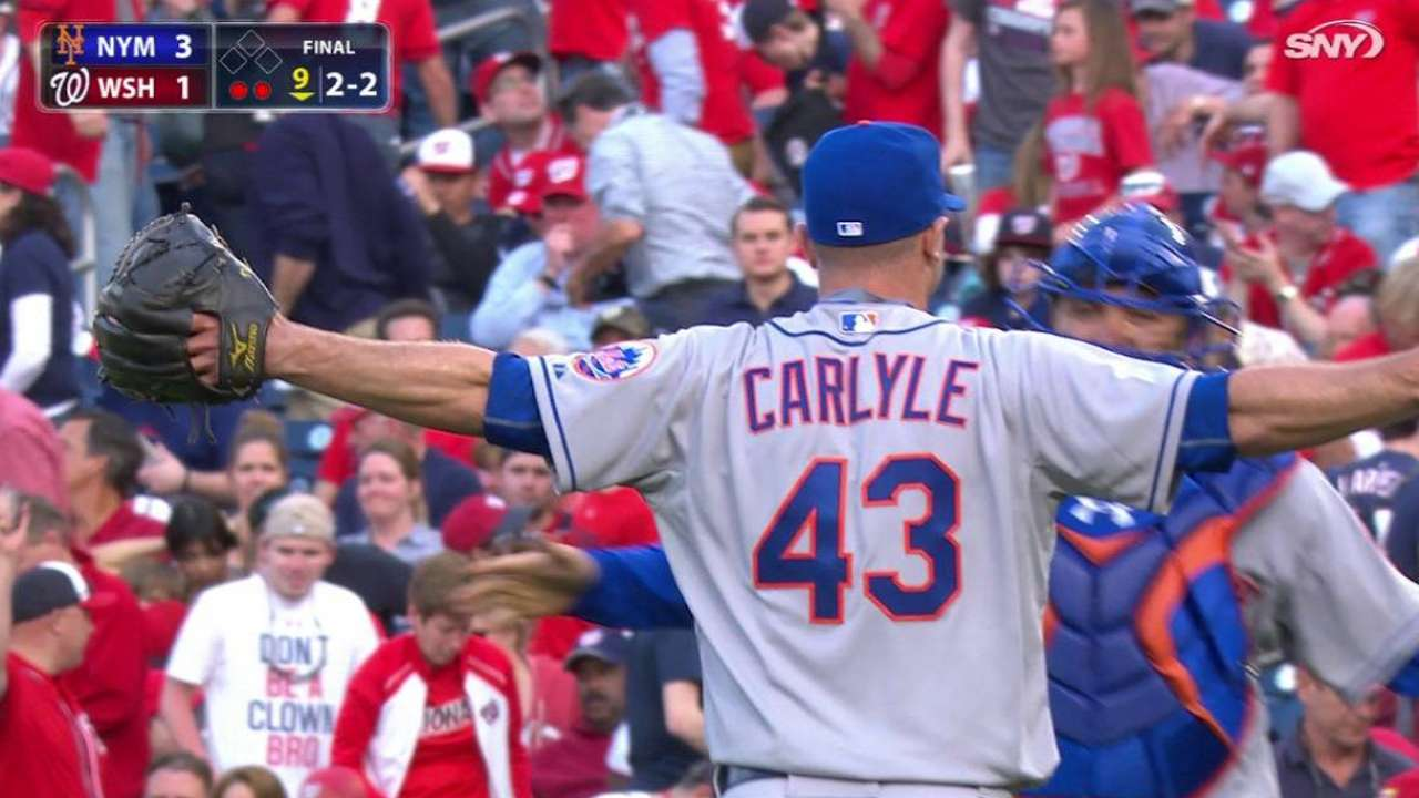 Carlyle's first career save